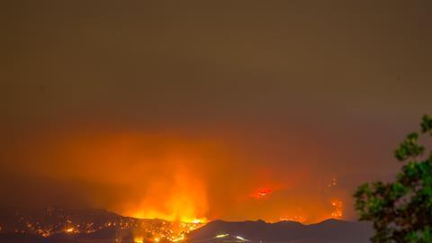 California wildfire i stock 589451890