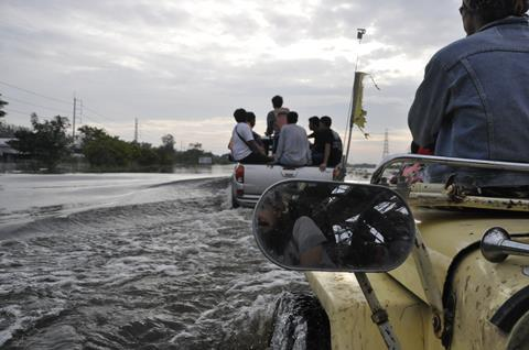 Major floods during the 2011 monsoon season in Thailand