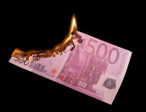 Euro, money, burning, france, germany, europe, crash, bankrupt