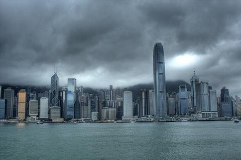 Hong Kong hit by typhoon