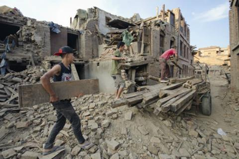 Nepal earthquake clean up sized