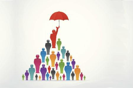 Umbrella offering small cover