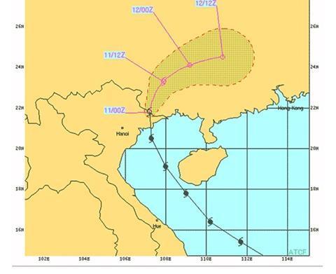 Haiyan path